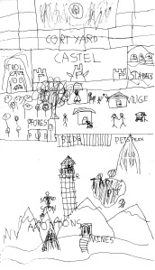 Fantacy map of my yard